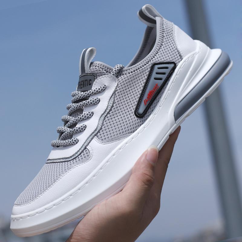 夏季透气运动鞋潮鞋百搭学生青少年网面薄款防臭旅游跑步男士鞋子