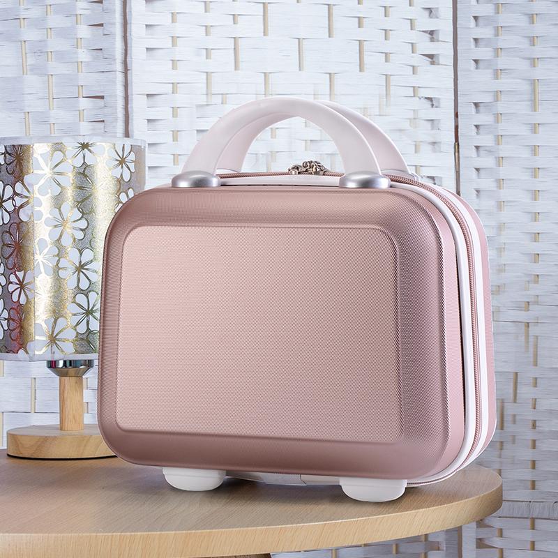 印制logo小旅行箱女化妆箱包韩版收纳包14寸迷你行李箱小手提箱16