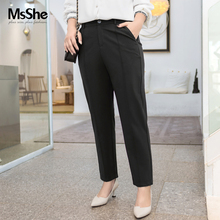 MS she plus women's 2020 new spring clothes simple and slim cotton Roman tapered suit pants