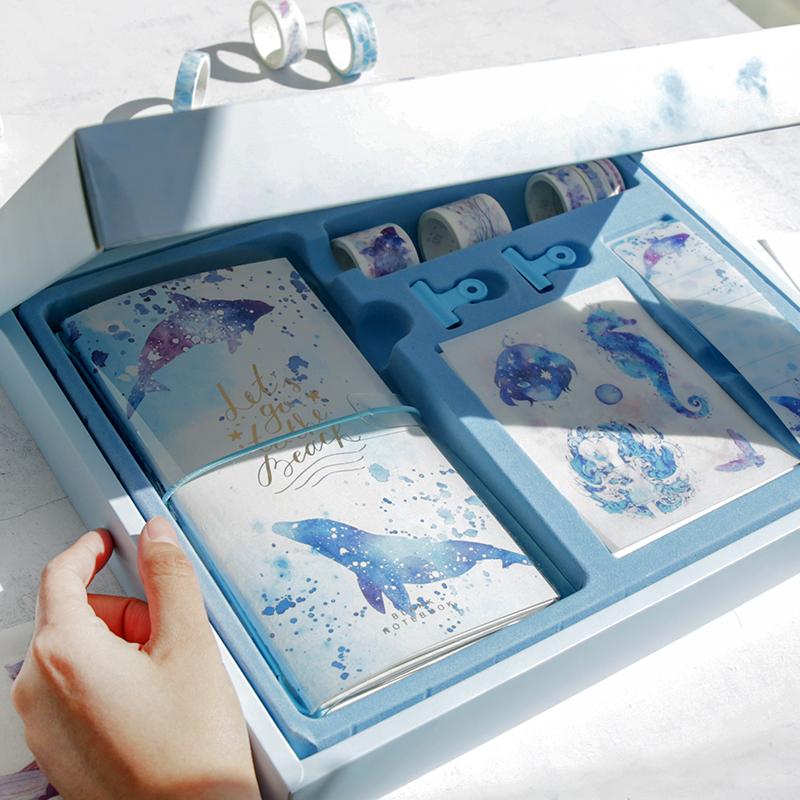 ins手帐套装礼盒创意手账本套装笔记本礼盒少女心手账本网红文具限7000张券