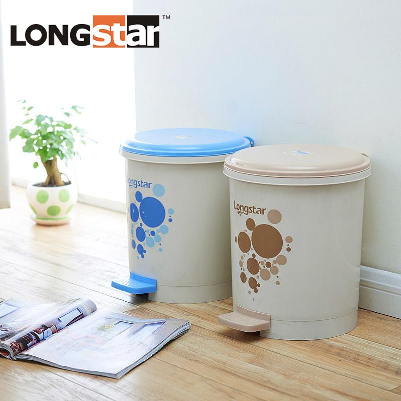 龍士達腳踩腳踏式垃圾桶家用帶蓋有蓋衛生間卧室翻蓋卡通可愛廁所