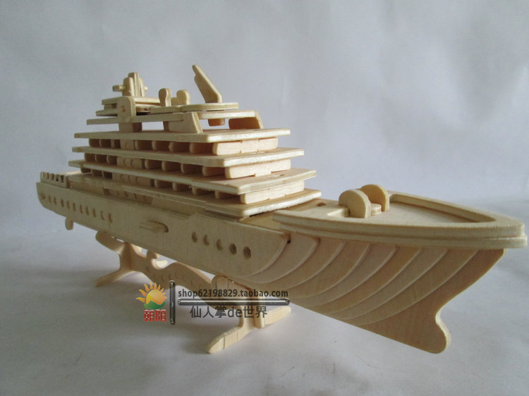 The Simulation Model Assembled Wooden Boat Cruise Ship Wooden Yacht Handmade Diy Wood Assembled Model Toy 3d