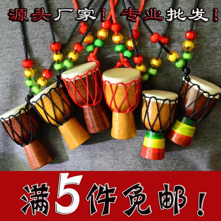 Special price 1.5-inch Lijiang African drum Necklace tourism African pendant drum clothing ornament small drum decoration drum