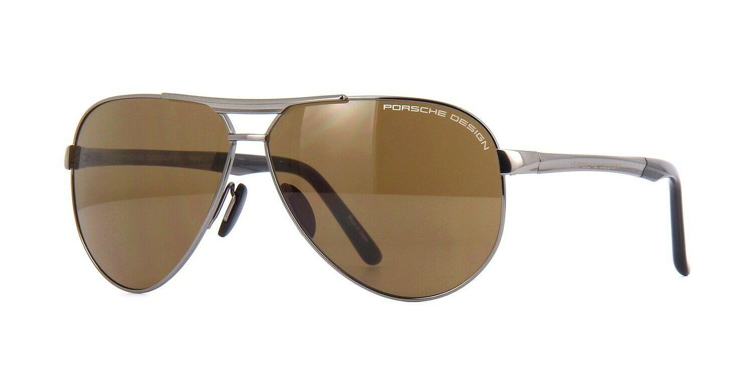 代购Porsche Design保时捷棕色太阳眼镜墨镜P8649 D FR