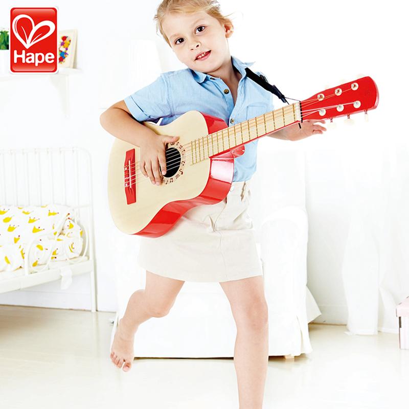 限10000张券hape乐动吉他6弦大号宝宝儿童玩具