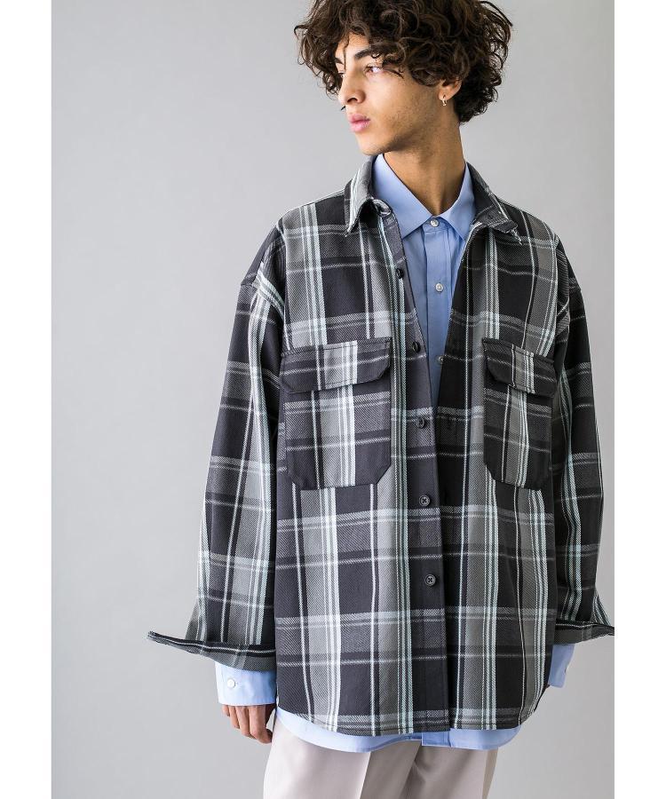 【3折】MONKEY TIME OVER SIZED 重磅格子系衬衫外套 20ss 0328
