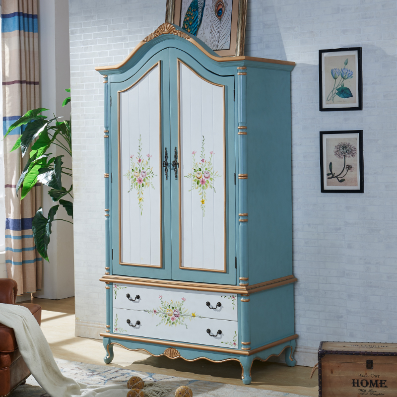 满3000元可用20元优惠券描金复古美式地中海成人3门4衣柜