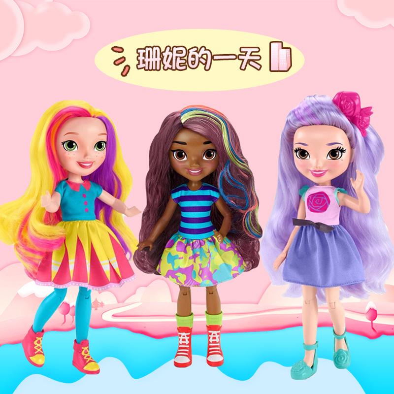 珊妮一天美发娃娃玩具芭比女孩玩具(用5元券)