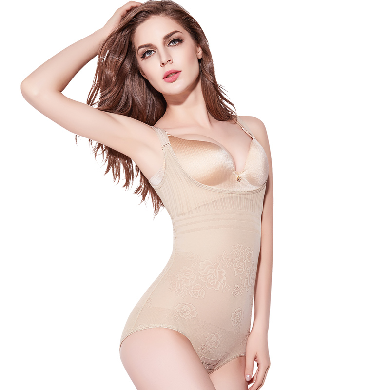 婷美薇曼收腰收腹连体塑身衣产后瘦身束腰提臀美体束身内衣服女夏