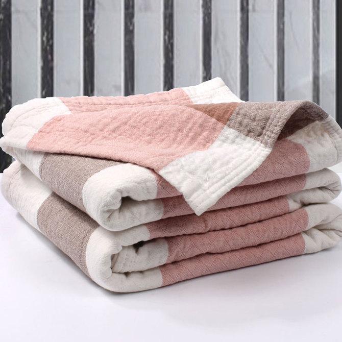 免邮 纱布水洗棉单人双人 费床单可铺可盖 毛巾被毯纯棉加厚