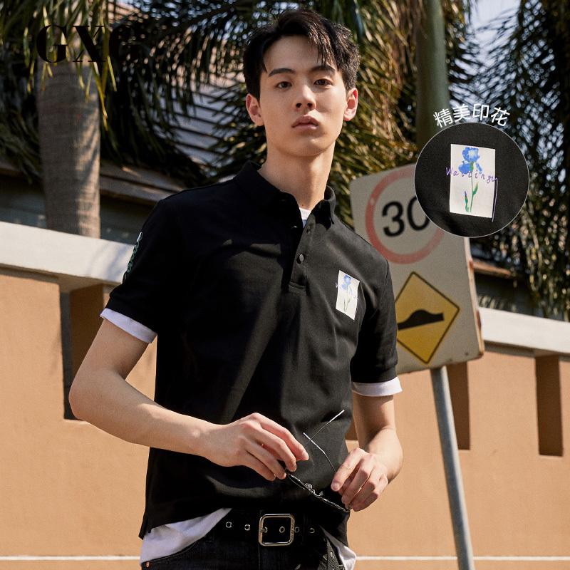 gxg男装2019夏季新款保罗衫polo衫满429.00元可用270元优惠券