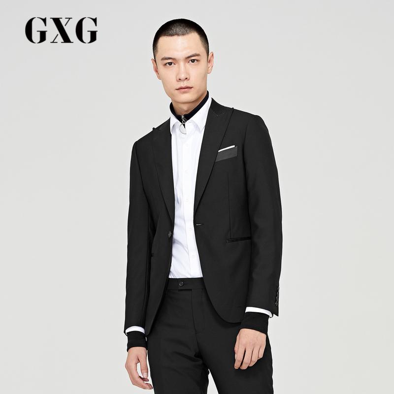 商场同款黑色时尚修身潮流西装