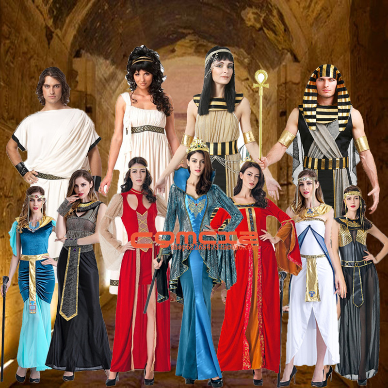 The queen of Greece plays the role of Queen of Egypt Costume