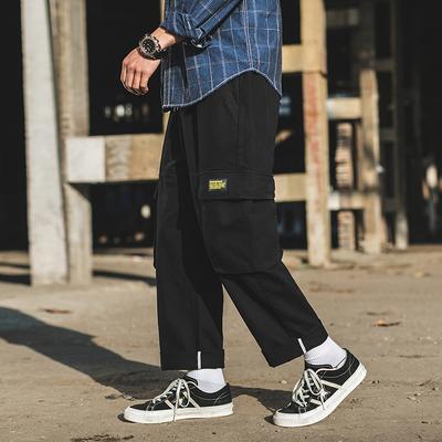 外景2019新款外景原创日系工装裤潮男休闲裤 黑色A875-P55 控价85