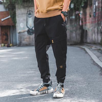 2018秋季外景日系多口袋工装裤休闲裤 黑色 A821-P60(控价90)