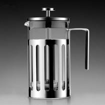 出口加厚不锈钢法压壶滤压泡茶壶冲茶器耐高温玻璃咖啡壶冲茶壶