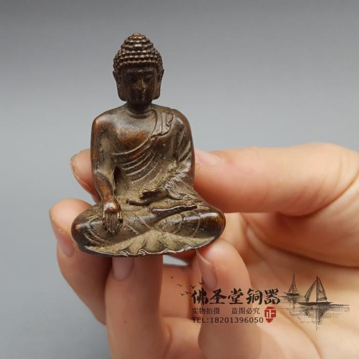 特价小号释迦摩尼佛摆件如来佛茶宠茶道供佛密宗佛保平安收藏品