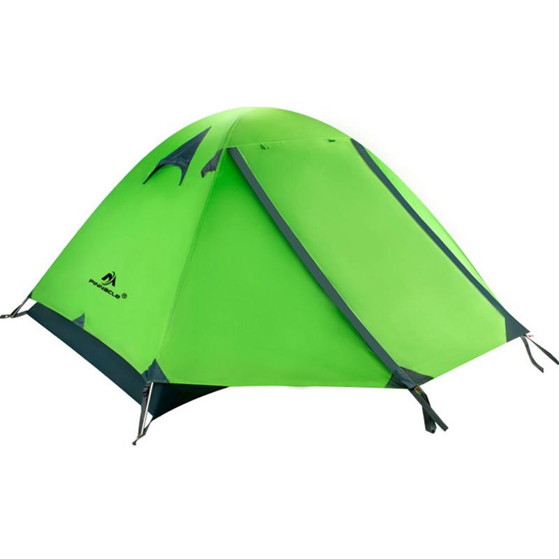 双人双层铝杆野外登山露营帐篷 防风防暴雨户外3-4人家庭套装帐篷