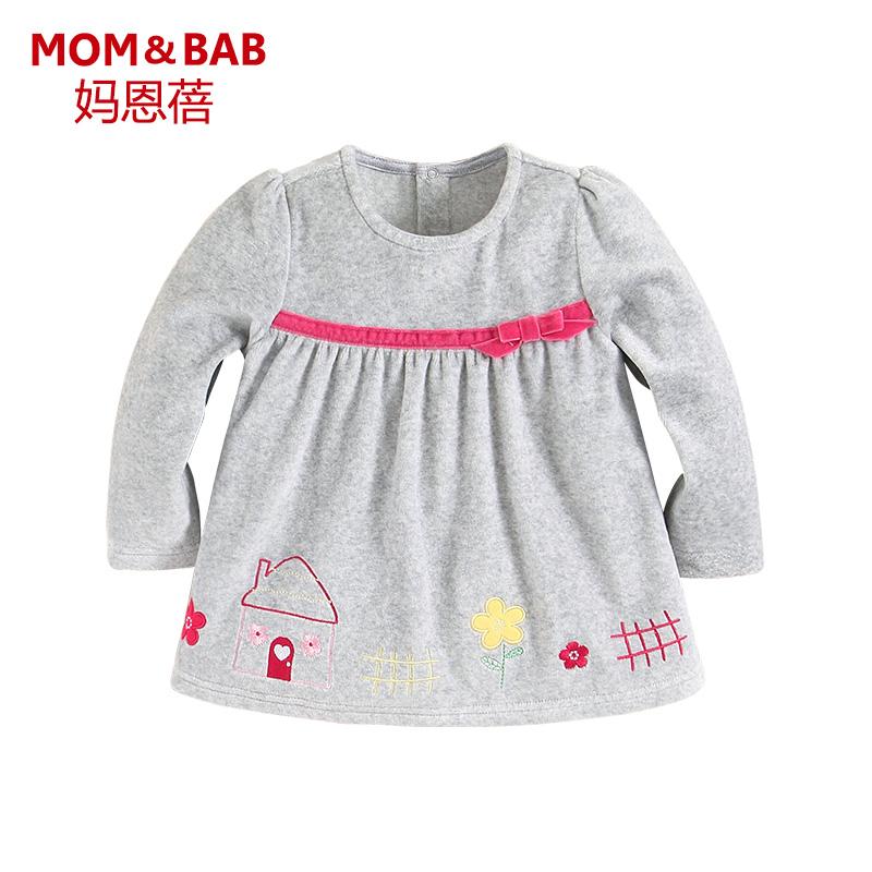 女童天鵝絨小童寶寶t恤