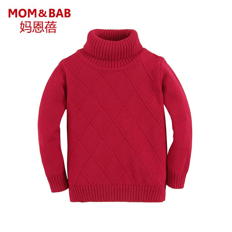 媽恩蓓男女童高領毛衣打底衫針織衫 寶寶套頭毛衣 嬰幼兒毛線衣