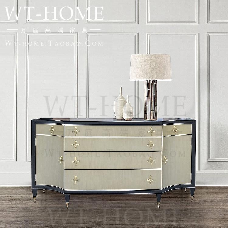 美式现代实木欧式经典餐边柜电视柜轻奢法式客厅斗柜玄关柜装饰柜