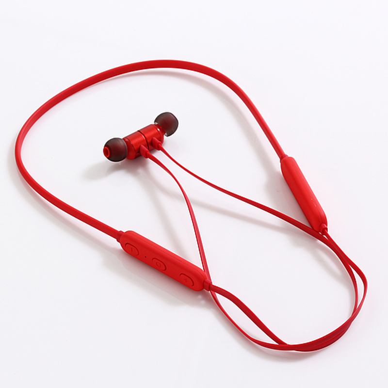 Wireless sports Bluetooth headset neck hanging neck in ear music headset bilateral stereo mobile phone accessories