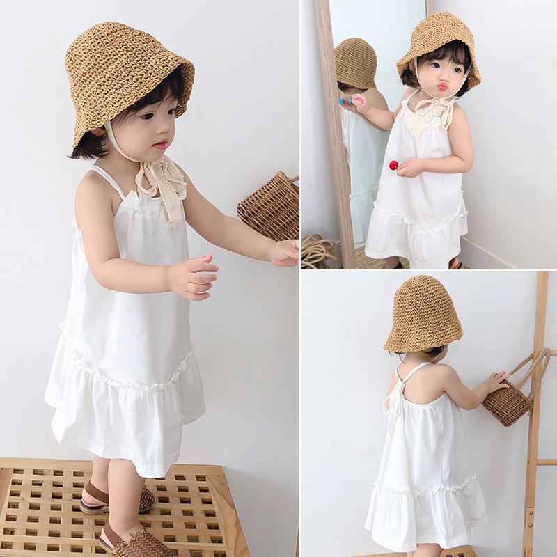 女婴儿童宝宝夏装白色女童连衣裙子11月05日最新优惠