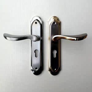 金银铝合金室内门锁卧室房门锁三件套机械门锁具把手锁芯五金配件