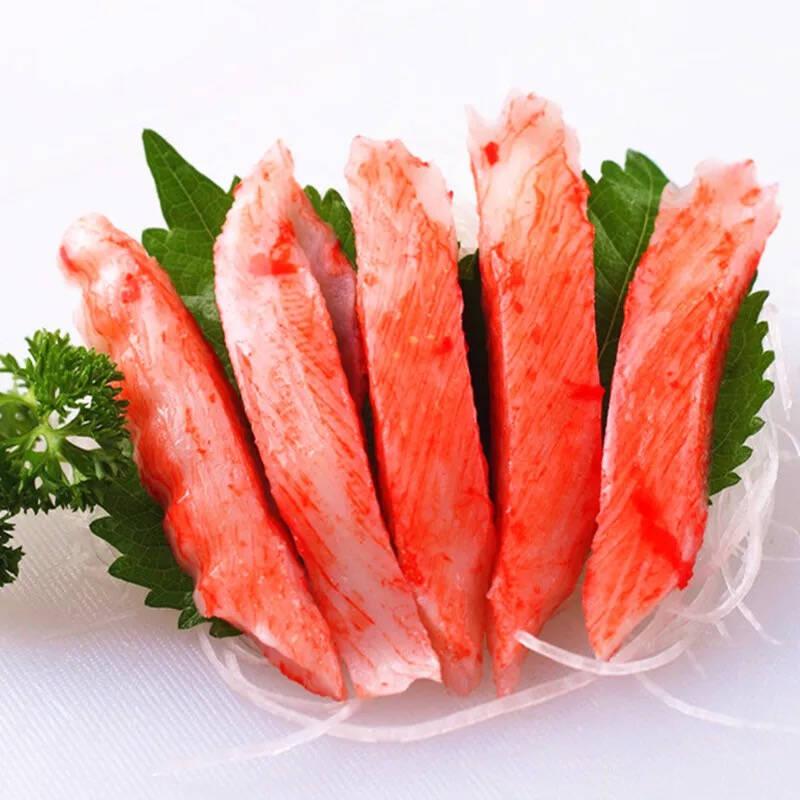 松葉蟹と柳情口松葉と蟹の肉と蟹の足棒寿司サラダ270 gプレート