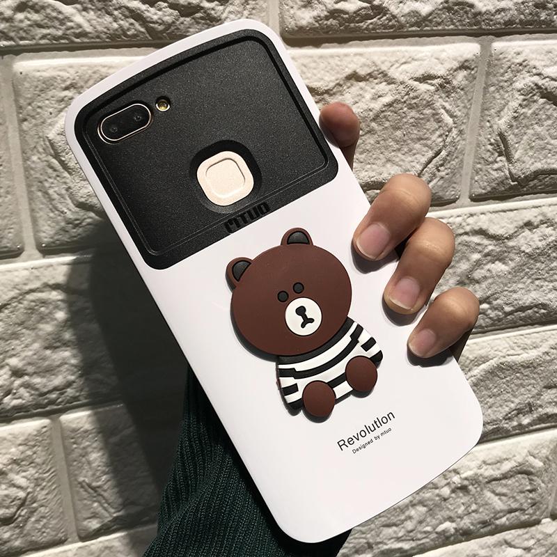 vivox6手机壳x20卡通可爱小棕熊x硅胶套全包边防摔x6a/d女款error