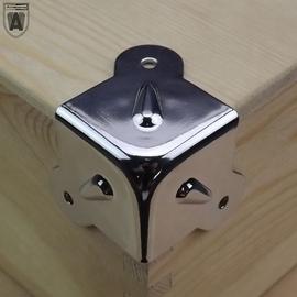 音箱木箱航空箱音响五金木工三面包角护角角码角铁固定中三叉包角