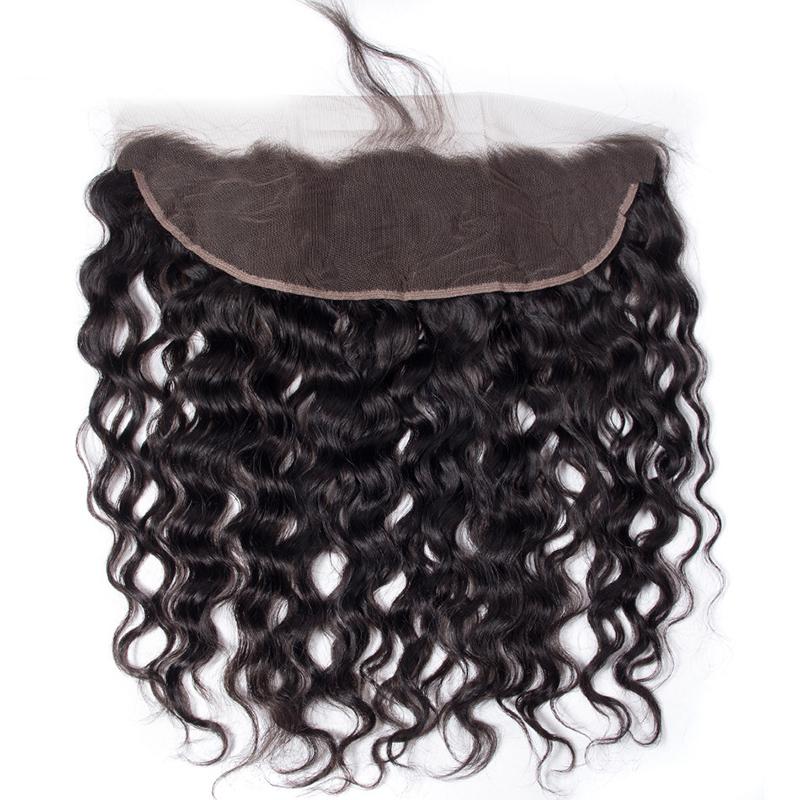 human hair Lace frontal 13*4 Closure water wave