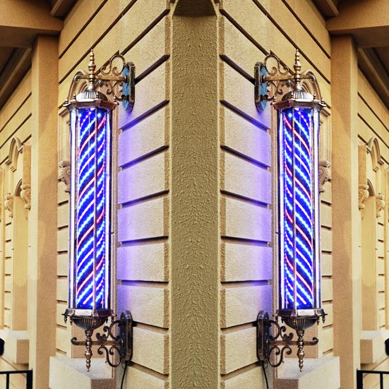 Бесплатная доставка LED салон парикмахерское дело включить свет континентальный ретро рим дворец свет стрижка магазин декоративный вешать стена алюминий стекло лайтбокс