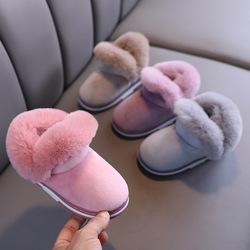 儿童雪地靴秋冬新款加绒加厚女童保暖短靴男童宝宝室内防滑棉鞋