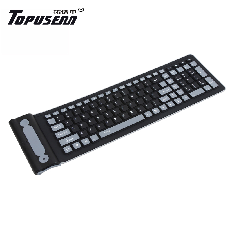 Notebook 2.4G wireless USB test bench waterproof foldable silicone soft keyboard silent silent desktop keyboard