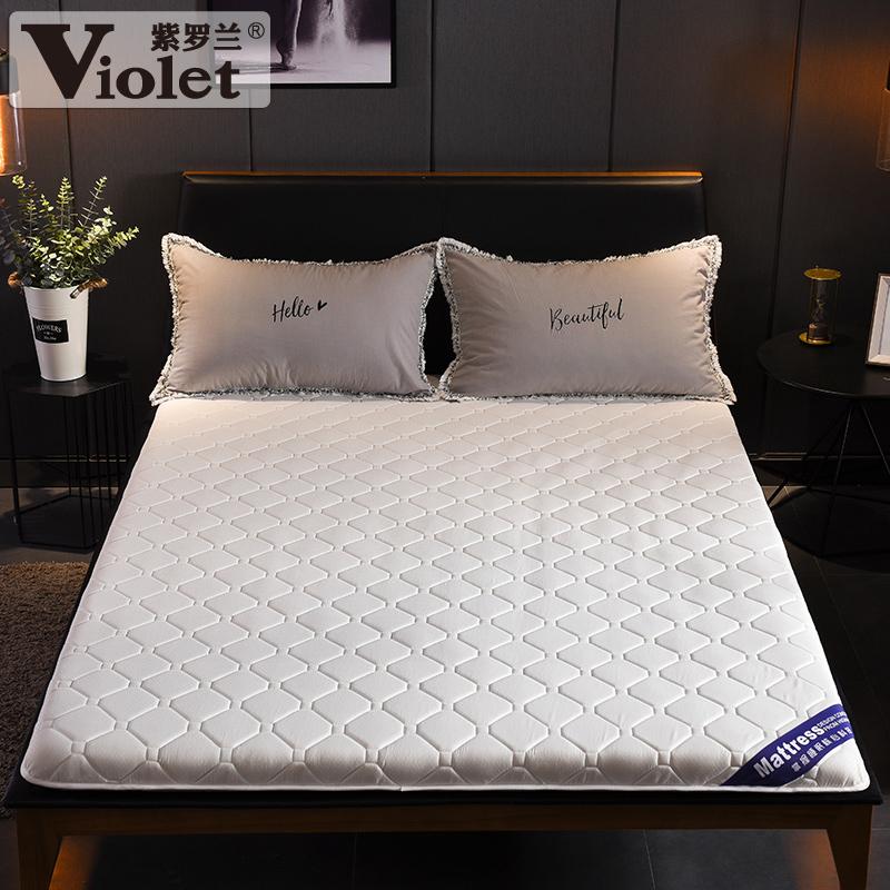 紫罗兰水洗棉抗菌防水床垫单人软垫加厚1.5m床褥子榻榻米家用绵垫