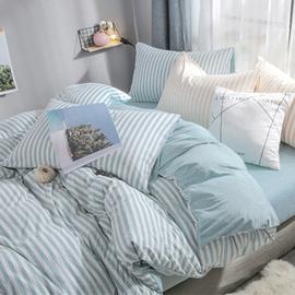 天竺棉被套针织被套全棉被套简约日式风被套单件健康裸睡被套
