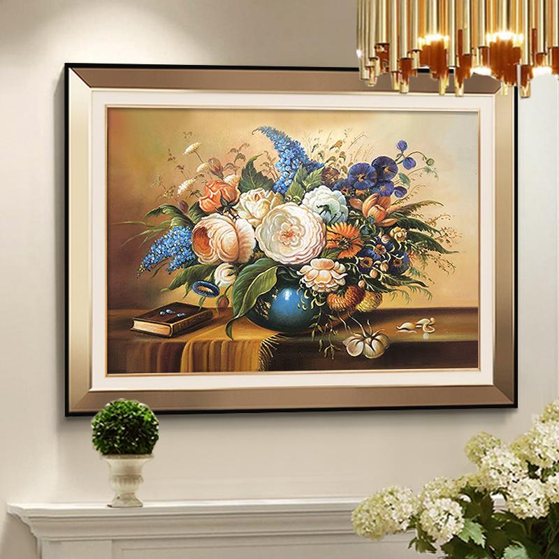 11月02日最新优惠欧式餐厅轻奢客厅饭厅墙面玄关壁画
