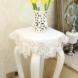 花架盖布欧式白色桌布电视盖巾圆桌布冰箱盖巾空调巾蕾丝花边盖巾