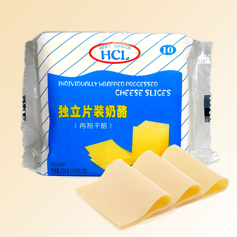 切达即食芝士片独立包装干酪奶酪起司片装焗饭泡面专用寿司10片