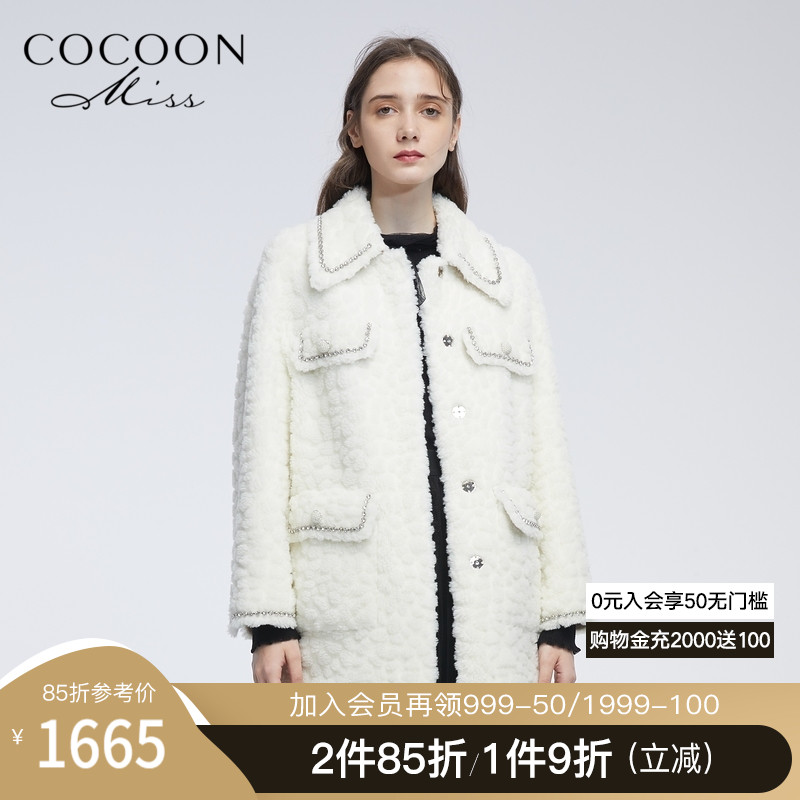 miss COCOON2020 winter new women's sheep shearing and fur one-piece lamb velvet fur coat jacket women