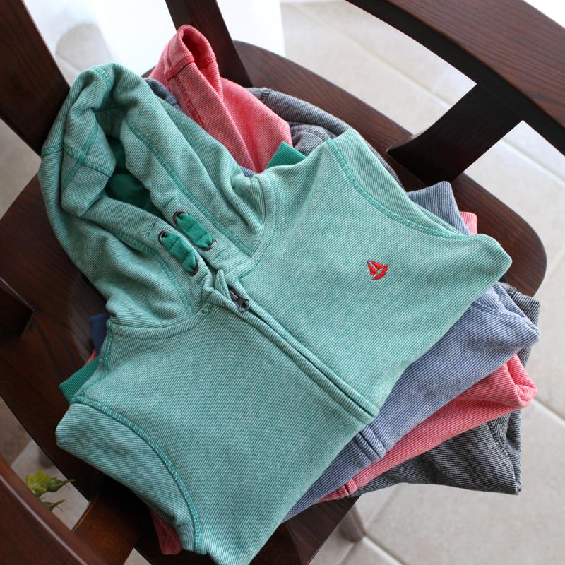 男童女童外套18秋新纯棉毛圈拉链开衫儿童装连帽运动夹克中大童