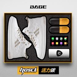 黑科技-八哥活力碳冬季白色高帮鞋男韩版潮流百搭青年潮鞋子男鞋