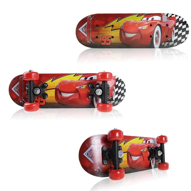 罗威2-8岁儿童玩具双翘四轮滑板慢速滑板小童车枫木初级滑板