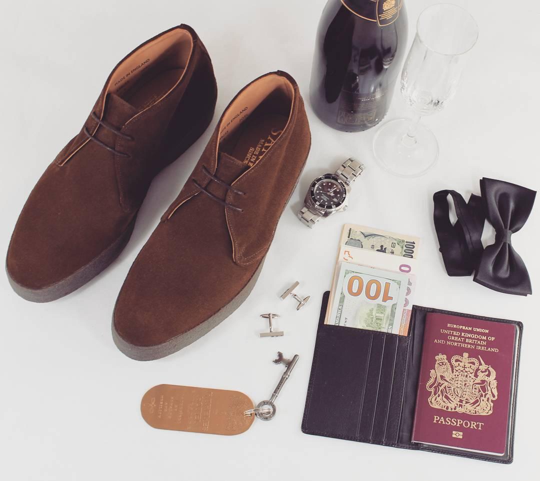 英国制造 sanders Chukka 麂皮 翻毛皮 休闲鞋 皮鞋 007 幽灵党