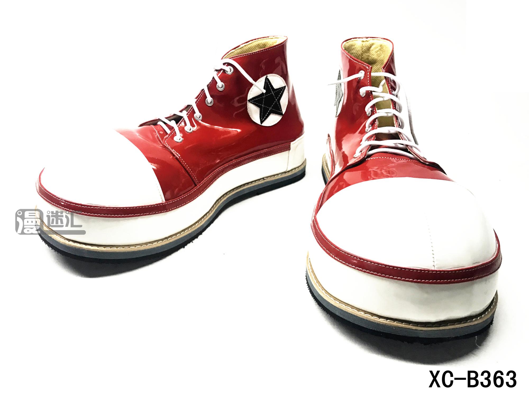 高端板鞋大圆头系列小丑鞋 clown shoes小丑角色扮演鞋XC-B363