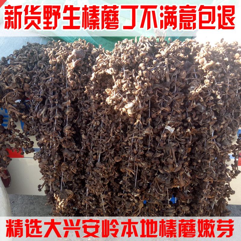 大兴安岭野生榛蘑丁干货精选去根蘑菇东北特产250g包邮无根香菇