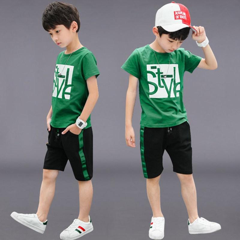 童装男童夏装套装2020夏季新款儿童中大童韩版纯棉短袖两件套潮