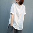 晓说超赞版型韩版休闲简约气质薄款全棉衬衫女翻领短袖2020夏新款