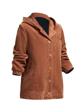 中老年妈妈装秋季外套40-50岁老年人大码女纯棉条绒休闲女厚夹克